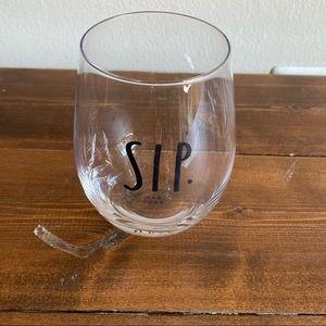 Sip. Rae Dunn Clear Wine Glass